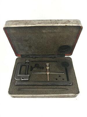 Vintage Starrett 196 Universal Back Plunger Dial Test Indicator Set In Case 4
