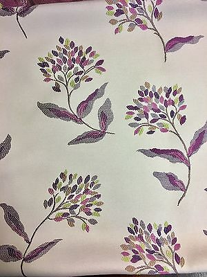 SAMUEL SIMPSON PURPLE FLORAL EMBROIDERY FABRIC 2.4 METRES