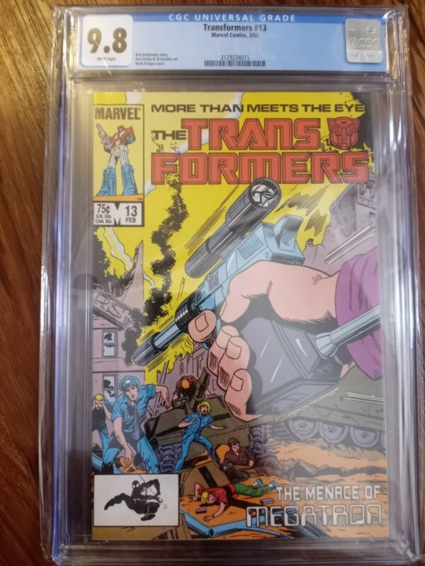 Transformers #13 CGC 9.8 Marvel 1986  Marvel Comic First series NEW FRAME