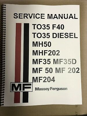 Mf35d Massey Ferguson Technical Service Shop Repair Manual Mf 35 D 35d Diesel