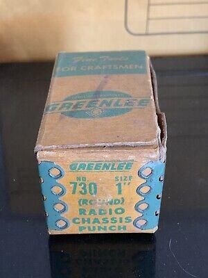 Greenlee 730 1 Round Radio Chassis Punch