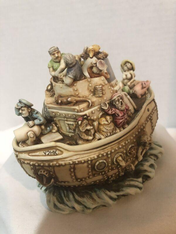Harmony Kingdom Y2HK Ship Box Figurine with Box 1999 Retired