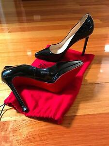 Christian Louboutin Black Gloss Pointed Pumps - size 39 Strathmore Moonee Valley Preview