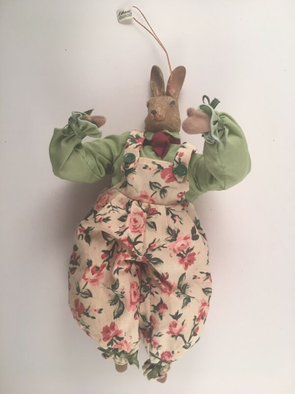 """Katherine's Collection Vintage Bunny Ornament 10"""""""