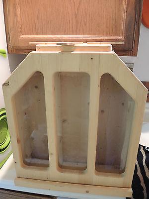 Food Storage Dispenser Pet food Custom Wood Grain Dispenser