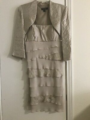 Ladies S. L. fashions 2-piece Bolero Jacket Dress Size -
