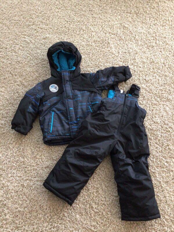 Zero X Posur Toddler Boy Winter Jacket Coat Snow Bib Pants Black Blue Sz.2T