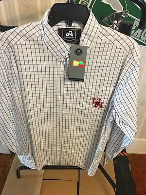 Ncaa Button Down Shirt - J. AMERICA Houston Cougars long sleeve shirt dress NCAA button down Small