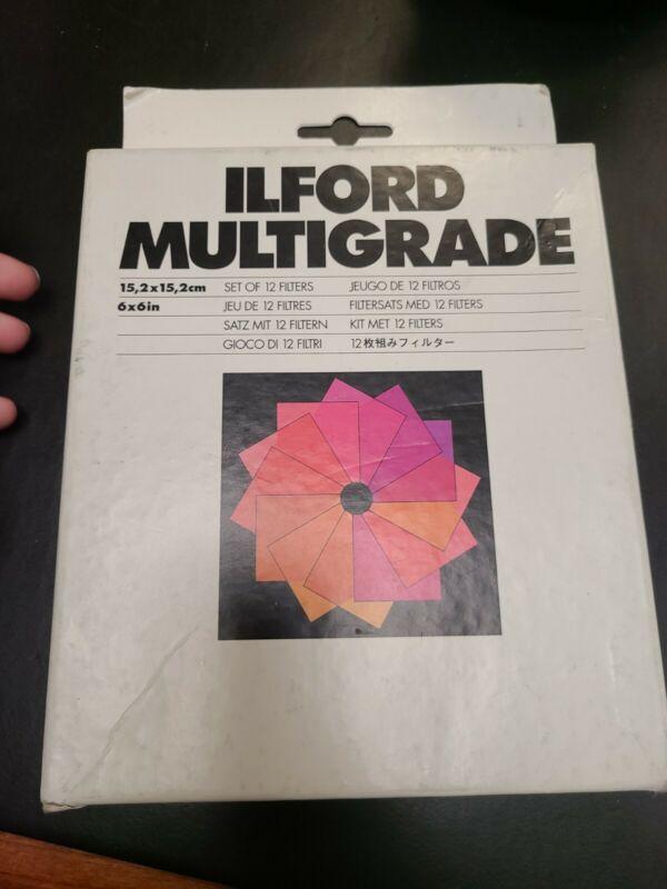 Set/12 ILFORD MULTIGRADE Filters 6x6 in Original Box - Complete