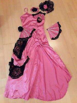 💃🏼Chou Chou Burlesque Saloon Girl rosa sexy Kleid 💃🏼Fasching Gr. 36