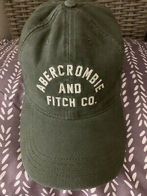 Nice Men''s Abercrombie And Fitch A&F Embroidered Logo Green Baseball Cap Hat