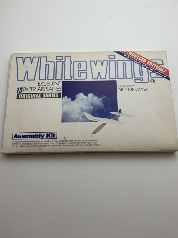 1980 White Wings Dr. Y.Ninomiya Authorized Edition 15 Paper Airplanes Original