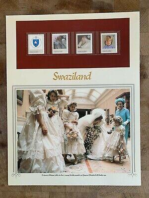 SWAZILAND 1981 MNH PANEL PRINCE CHARLES PRINCESS DIANA WEDDING # RARE #