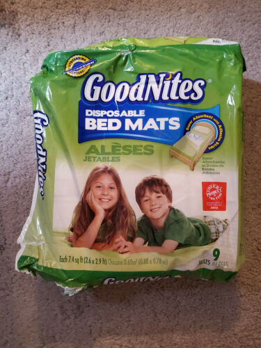 New GoodNites Disposable Absorbant Bedwetting Mats Three Missing