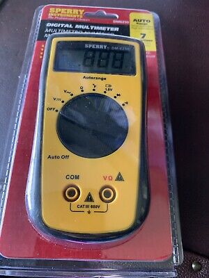 Sperry Instruments Dm6250 Digital Multimeter 7 Function Acdc V Resistance