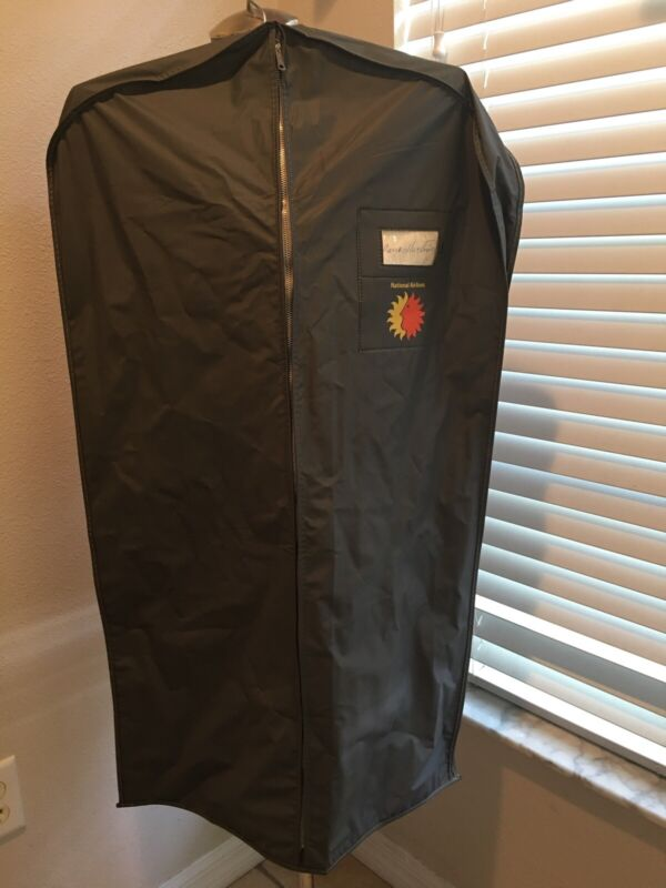 Vintage National Airlines Garment Bag Used By Actual Crew Member