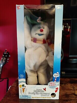 Gemmy Spinning Snowflake Frosty the Snowman (Green Hat) with Original Box