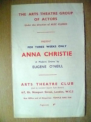 Art Theatre Group of Actors Programme- ANNA CHRISTIE by E O'Neill