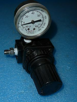4959k1 Compressed Air Regulator With 14 Ports And 0-100 Psi Gauge