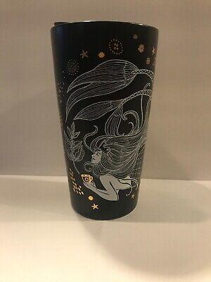 NEW Starbucks Black Ceramic Travel Mug Mermaid  2019 Holiday Limited Edition