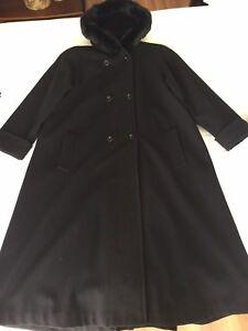 Women's wool long winter coat