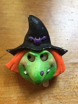 Halloween Scary Wind (Scary Wind-up Witch Pin Brooch Eyes Move! Hallmark Cards HALLOWEEN! Good)