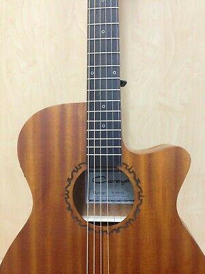Caraya safair 40-CEQ All-Mahogany Parlor Acoustic Guitar w/EQ + Gig Bag +Strings