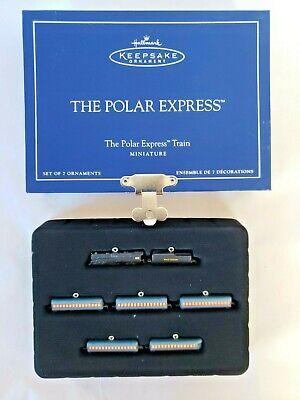 Hallmark 2005 Polar Express Train Miniature Ornament Set Christmas Keepsake