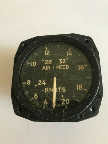 Air Speed Indicator - for Douglas Aircraft F3 or F4D Jet Airplane - Used