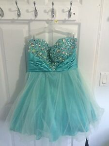 Strapless Light Blue Dress Size 9/10