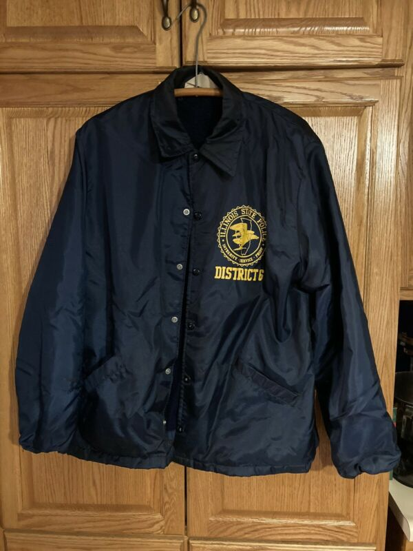 vintage illionis state police lined jacket large