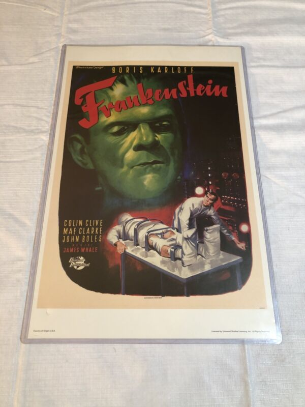 """Reprint 11 x 17 Movie Poster, """"Frankenstein"""" Free Shipping"""