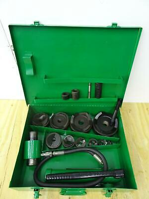 Greenlee 7310 Hydraulic Knockout Punch And Die Set 12 To 4 Great Shape 2