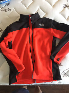 Red and black north face fleece (never worn)
