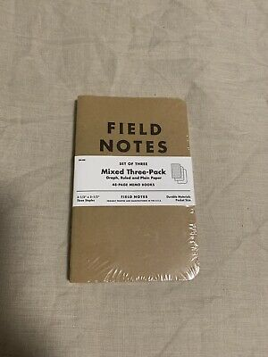 Field Notes - Kraft - Mixed Three Pack (Ruled, Graph, and Plain Paper)