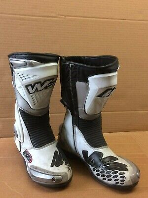 W2 ADRIA-SR ROAD MOTORCYCLE BOOTS 41 WHITE (0519) for sale  Bedford
