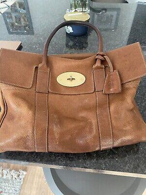 Mulberry Bayswater Oak Natural Grain Leather Handbag