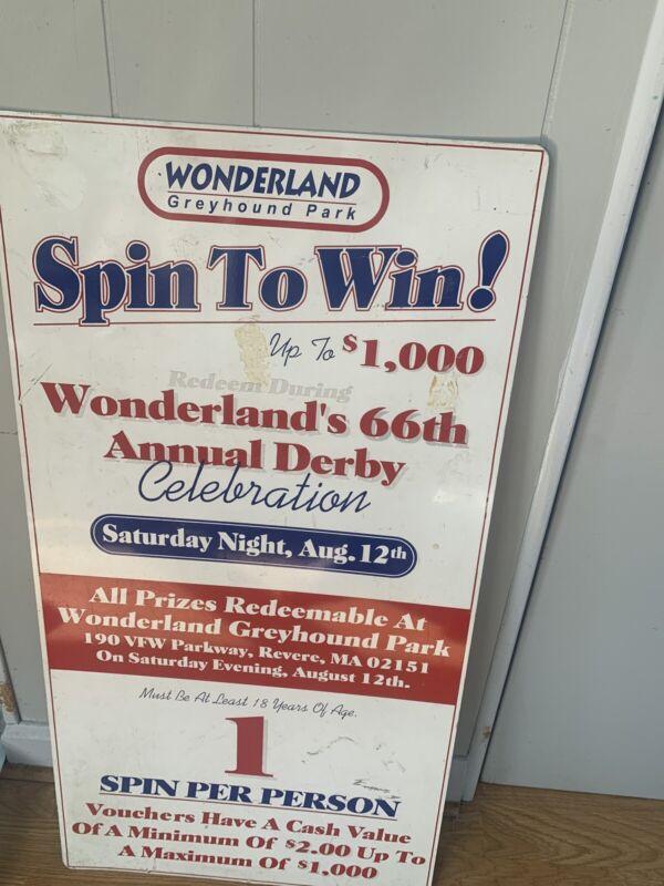 Vintage Wonderland's Greyhound Park 66th Annual Derby Sign