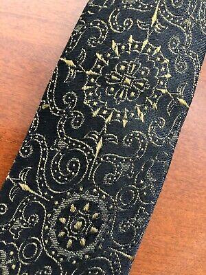 1950s Men's Ties, Bow Ties – Vintage, Skinny, Knit Vintage Men's Skinny Tie - Beautiful Design - Black/Bronze - 1950's-60's $10.79 AT vintagedancer.com