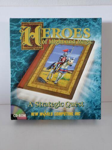 Computer Games - HEROES OF MIGHT AND MAGIC New World Computing IBM PC Computer Game 1995 BIG BOX