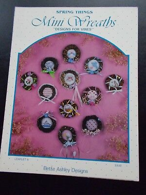 Mini Wreaths Designs For Vines Cross Stitch Pattern Leaflet #8 by Bette Ashley - Mini Wreaths