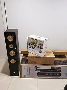 PROJECTOR AND SURROUND HOME THEATRE SYSTEM Camira Ipswich City Preview