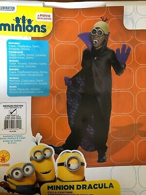 Minion Costumes For Boys (Kids Halloween Costume for Boys Minions Minion Dracula Jumpsuit)