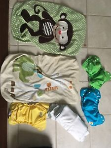 Cloth diapers ,change pad covers and Dot potty