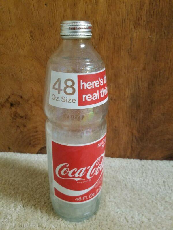 Coca Cola 48 oz Glass Bottle Here