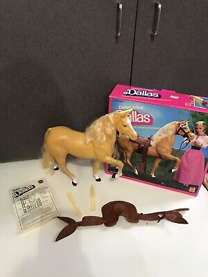 Barbie Dallas Horse Golden Palomino With Box 1980 and instructions