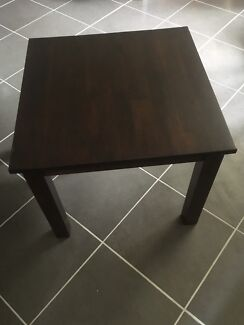 Dark Timber Square Coffee Table