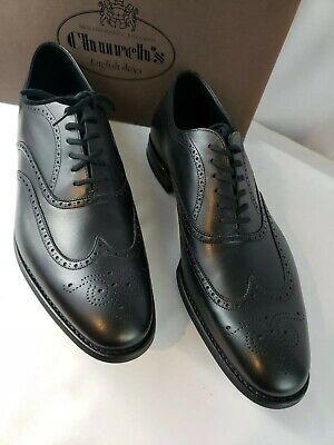 Church's Black Leather Custom Grade Men's Wingtip Shoes Wilson Sz 11 - Free Ship