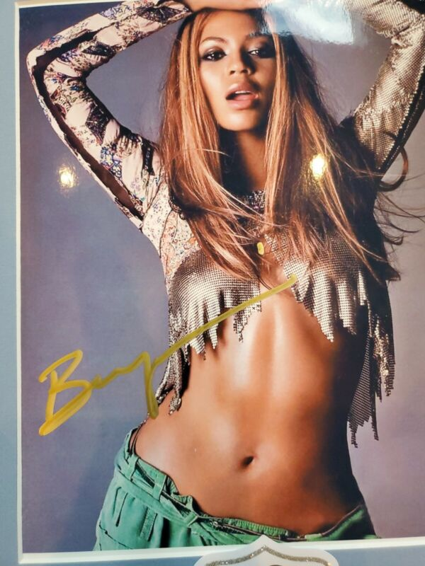 Beyonce Signed 8x10. GREAT ABS! Pic comes with matte.