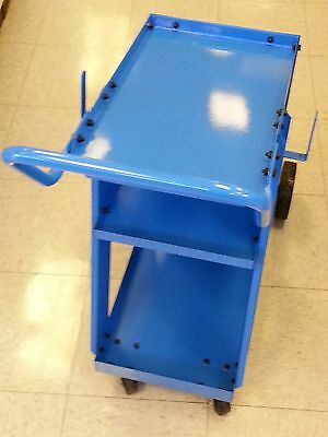 Welder Cart For Mig Tig Or Plasma Units - New 3 Shelf - Blue